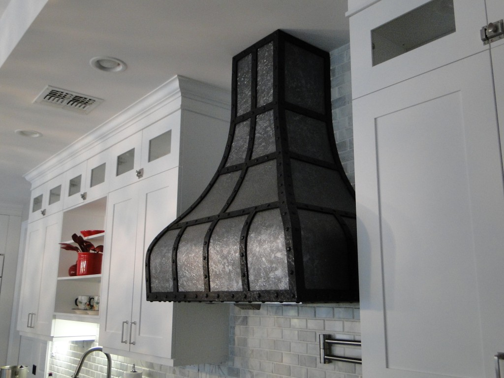faux metal stove hood side