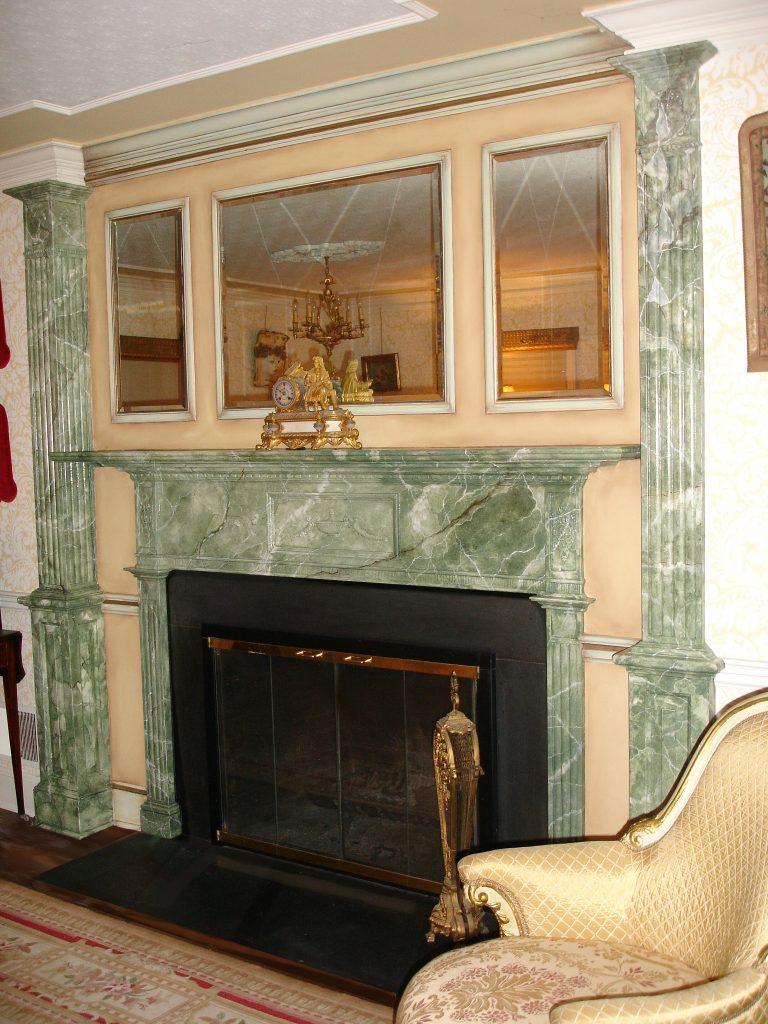 green marblefireplace by sandi billingsley
