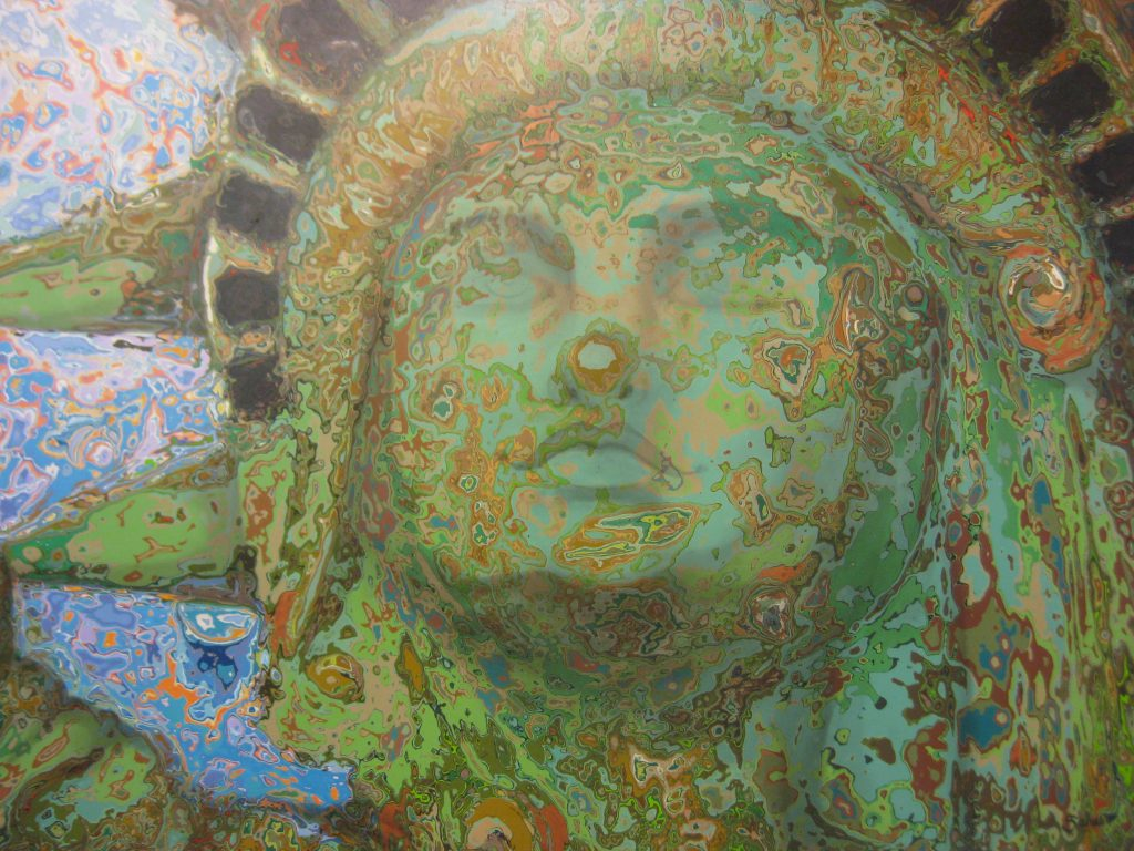 statue of liberty detail