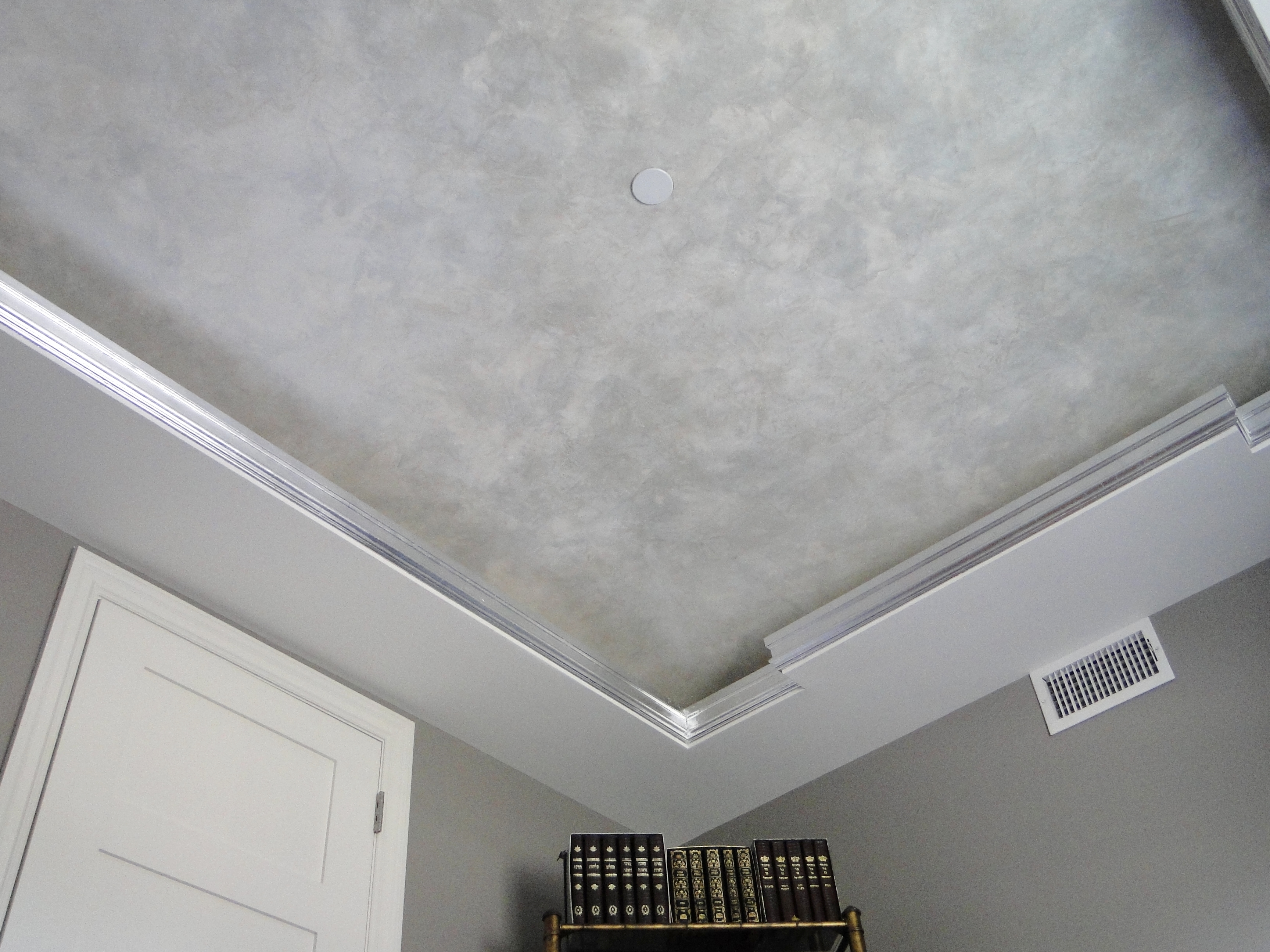 ... Selected Jobs: vanetian plaster and silver leaf ceiling in study.JPG